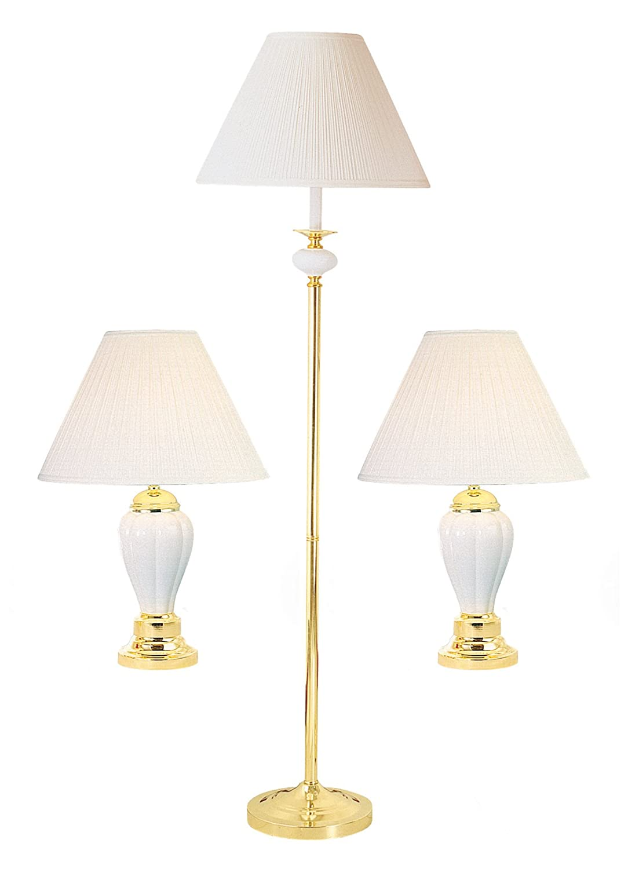 Ok lighting OK-4101IV-31 Ceramic Lamp with 3 in 1 Bonus Pack 64 x 17 x 17