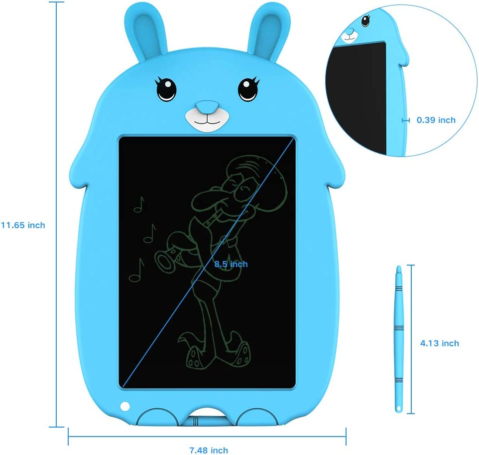Blue Office and School doosl LCD Writing Tablet Reusable Doodle /& Scribble Board for Kids Paperless Memo Note Pad for Home 8.5 Inch Electronic Drawing /& Writing Board