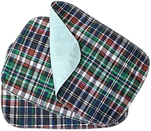 Head2Toe Plaid Washable Bed Pad/Reusable Incontinence Underpad 30x36-3 Pack- Perfect for Children and Adults Wholesale Incontinence Protection