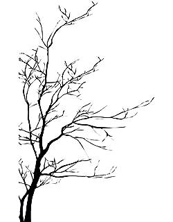 amazon com large tree wall decal sticker semi gloss black tree