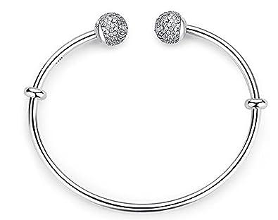 economico per lo sconto 0ba7e 5c91e CZ Ball coppia braccialetto in argento Sterling con perle - Ball ...