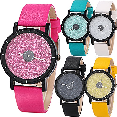 Yunanwa 5 Pack Wholesale Assorted Unisex Women's Men's Watches Leather Wrist Brand Gift 2016 New arrival