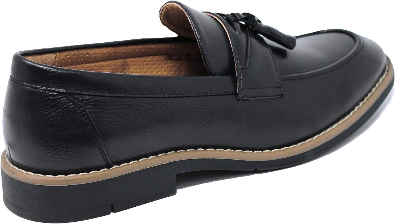 Evoga Chaussures montantes /él/égantes en cuir synth/étique vernis pour homme