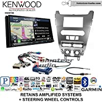 Volunteer Audio Kenwood DNX874S Double Din Radio Install Kit with GPS Navigation Apple CarPlay Android Auto Fits 2008-2011 Focus (SWC)