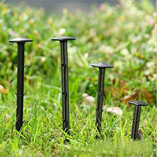 katoot @ 50pcs/lot jardín uñas pinzas negro PP 11/16/20 cm ...