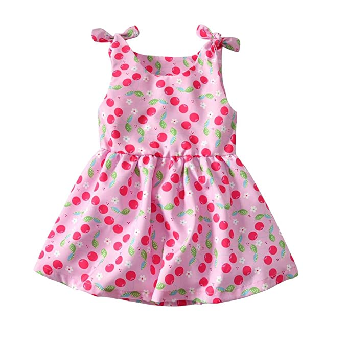 43017cb31af93 Amazon.com: Lurryly Baby Girls Dress Sale!Toddler Kids Cherry Print ...