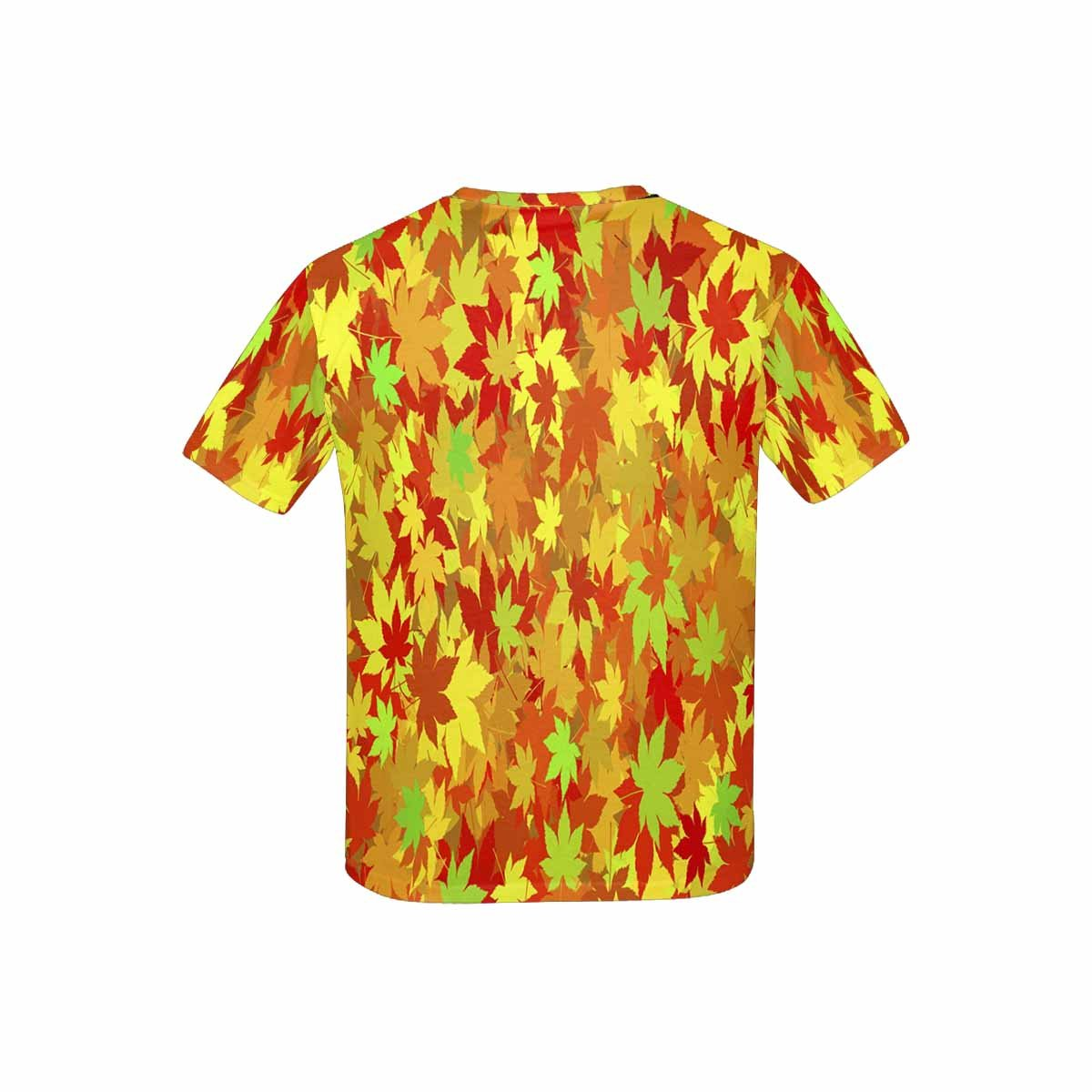 INTERESTPRINT Kids T-Shirts Maple Pattern XS-XL