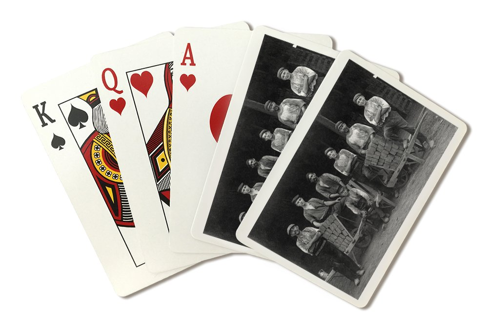 A Team of Bricklayers and Brick Carts (Playing Card Deck - 52 Card Poker Size with Jokers)