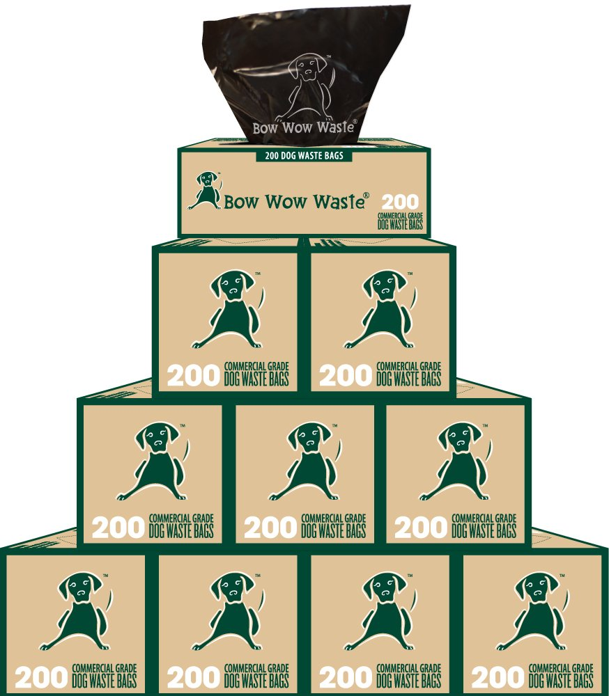 10 Roll Case Dog Waste Bags (2000 Bags) Item #: BW-001-10 by Bow Wow Waste
