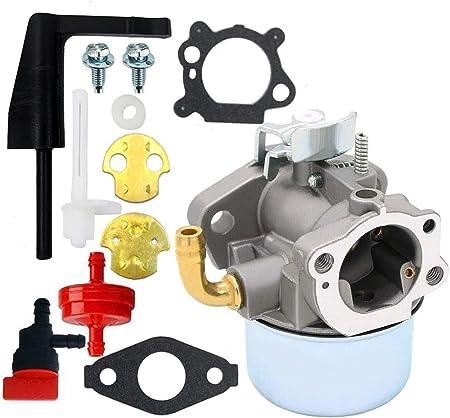 Vergaser f/ür Briggs /& Stratton Craftsman Gartenfr/äse Intek 190/6/HP 206/5,5/Motor