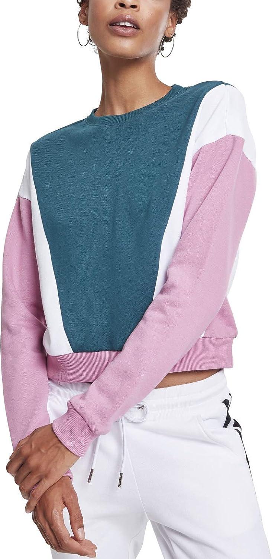 Urban Classics Women Max 89% OFF Sweatshirt Year-end annual account Crew 3-Tone Arrow