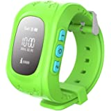 MobiQuick Smart Watch with GPS Tracker and Sim Support System for Kids Safety (Green)
