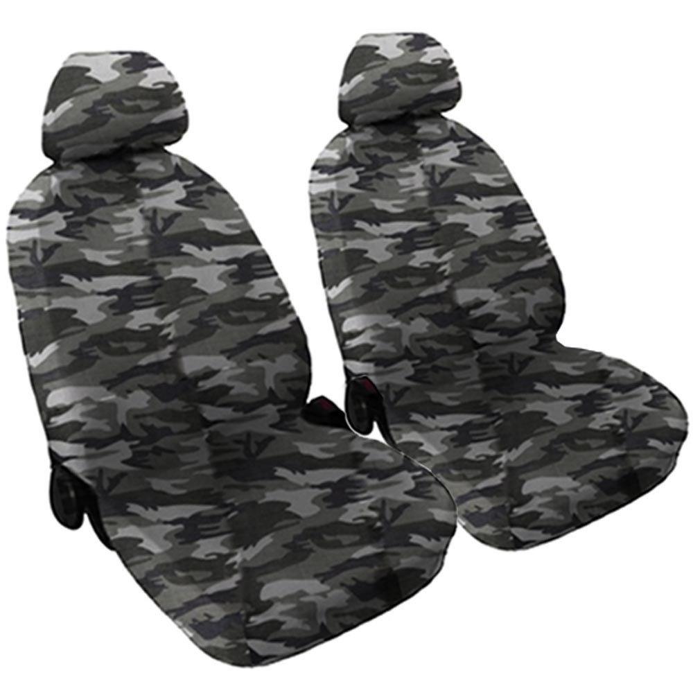 Lupex Shop Ketty_Mch Housses de siè ge Avant en Tissu de Coton - Camouflage Clair
