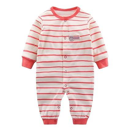 Recién Nacido Bebés Rompers Mameluco, Bebé Bodysuits Dormir Rompers Mono Bebé Pijama Pelele, 0