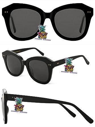 New Gentle man or Women Monster Sunglasses V brand Absente ONE for Gentle monster sunglasses-black frame black lens FTxXuaDk
