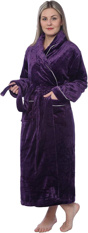 Women's Plus Size Plush Soft Special 2021 model price Robe Fleece Long Bathrobe Warm
