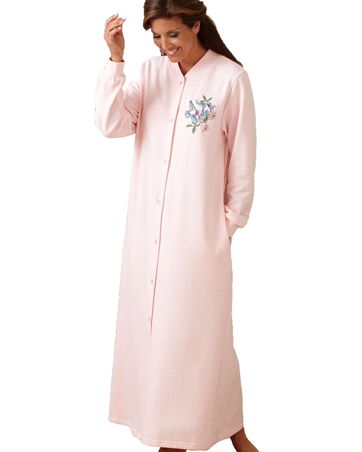 National Snap Front Fleece Robe - Long