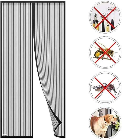 AKEFG Cortina mosquitera Doble magnetica Puerta Exterior, Mosquitera Puerta corredera Lateral con iman para terraza/habitacion Fácil de Instalar,110 * 210cm: Amazon.es: Hogar