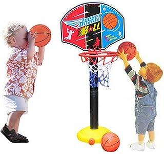 CX TECH Boy Portable Basketball Hoop Stand Stand Ball Pump Backboard Set Palla Indoor Outdoor Fun attività Toys 3 Anni più Vecchio Toddler Baby Sports