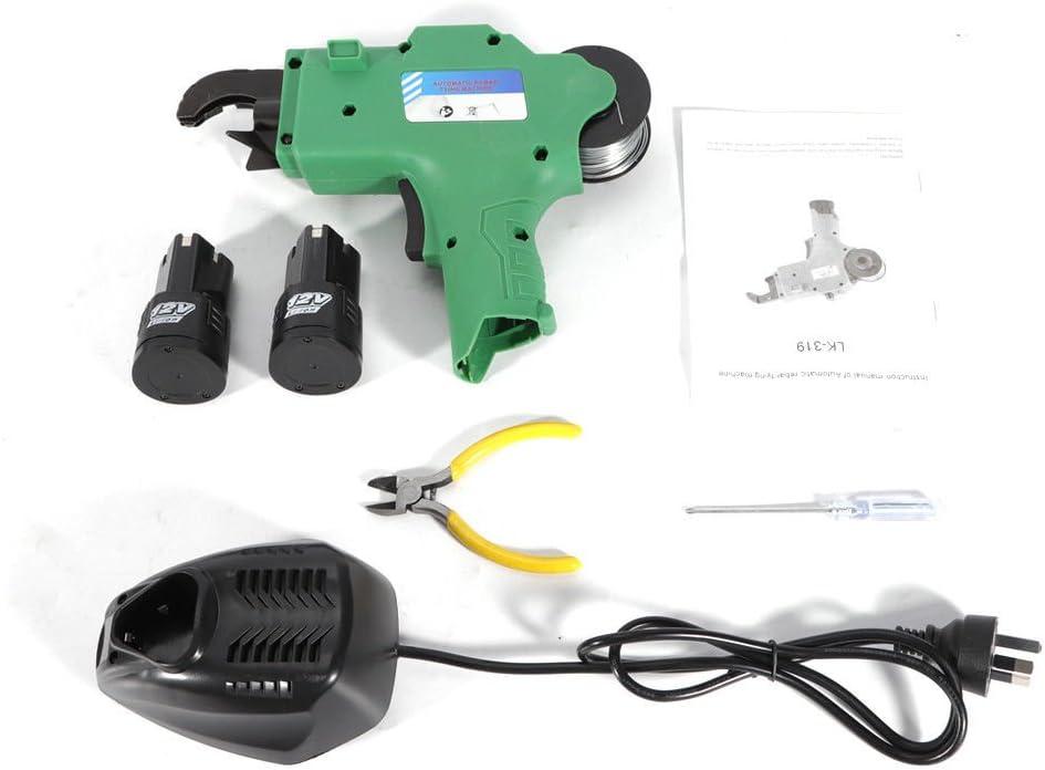 vert fil: 8/–34/mm Oukaning Portable automatique armatures attacher machine batterie Plus l/éger Barre en acier Tige attacher de reliure Outil Vigne Tier