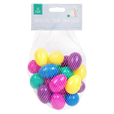25 assorted colour fillable plastic surprise eggs fill with easter 25 assorted colour fillable plastic surprise eggs fill with easter hunt gifts and chocolate negle Choice Image