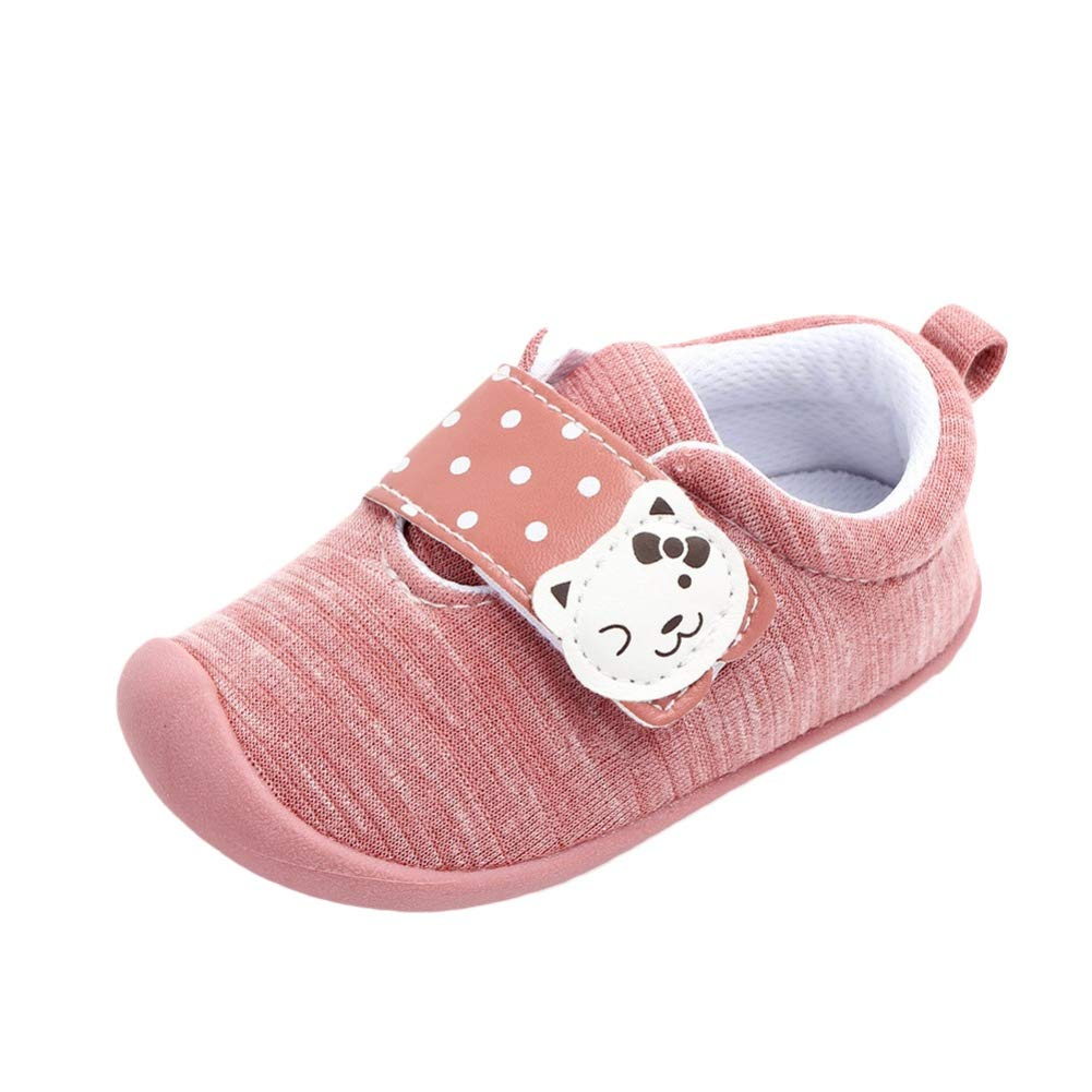 Weixinbuy Kid Baby Girls Rubber Sole Casual Slip-on Outdoor Sneaker Shoes Princess Flat