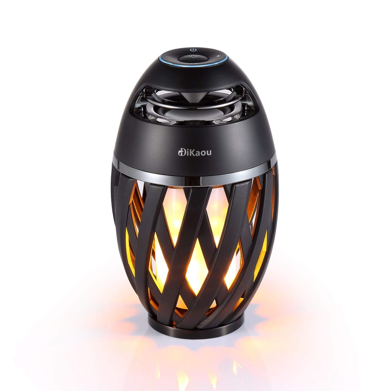 DIKAOU Led flame table lamp, Torch atmosphere Bluetooth speakers&Outdoor Portable Stereo Speaker with HD Audio and Enhanced Bass,LED flickers warm yellow lights BT4.2 for iPhone/iPad /Android by DiKaou