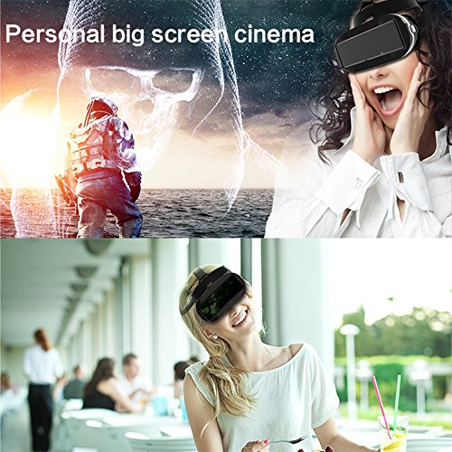 Docooler Virtual Reality Glasses VR All-in-one Machine 3D VR Headset 5.5Inch Touch Screen WiFi Bluetooth 4.0 w / Earphone Jack TF Card Slot US Plug by Docooler (Image #5)