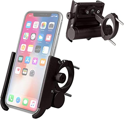 Adjustable Phone Mount Bracket Black Anti-slip For Bicycle Motorcycles Scooter