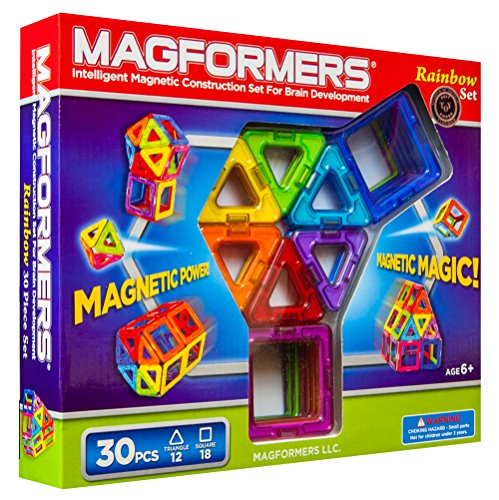 Birthday And Christmas Toys For Boys 5 Years Old Magformers Rainbow 30 Piece Set