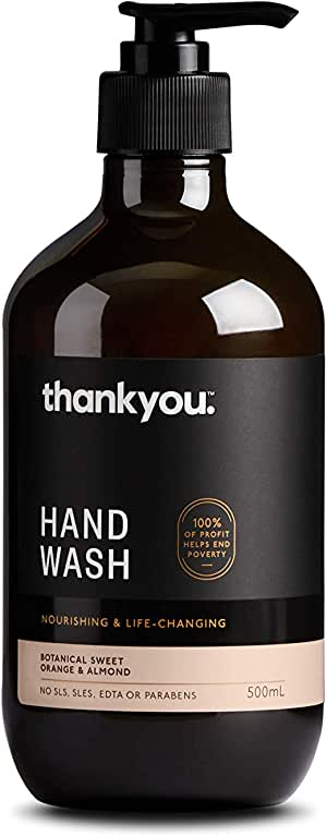 Thankyou Hand Wash Botanical Sweet Orange & Almond - Nourishing (500mL)