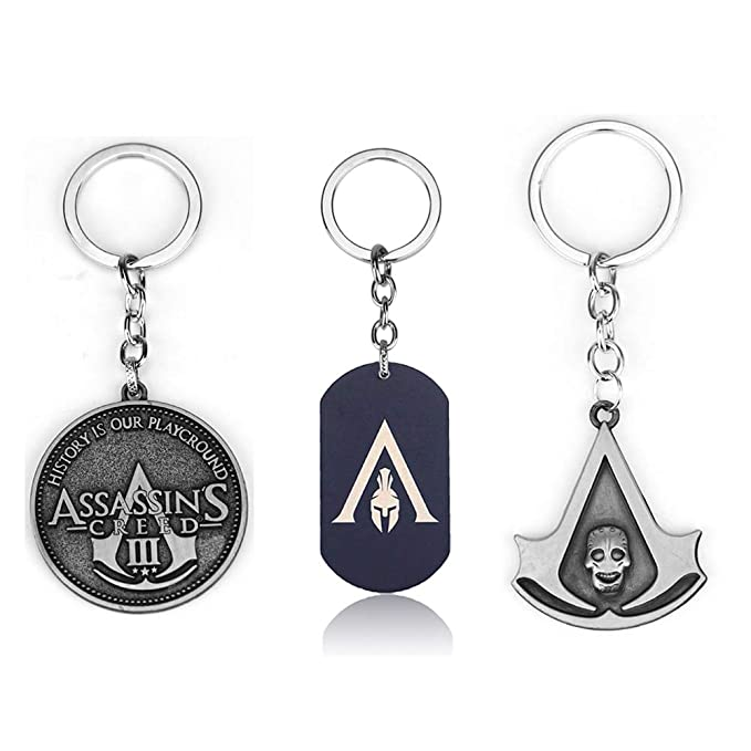 Juego Assassins Creed Alloy Key Chains Holder Vintage Metal ...