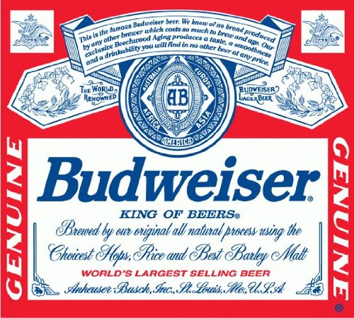 Budweiser Beer Drink Bumper Sticker 5