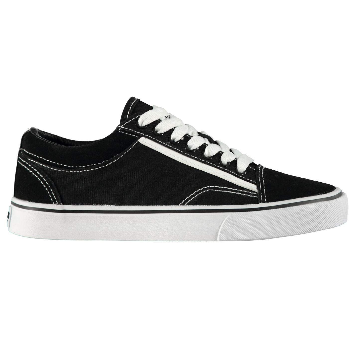 2fdb0a8e1 Amazon.com: SoulCal Cali Girls Canvas Shoes Black/White Trainers Footwear:  Shoes