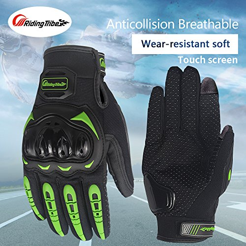 Fashion Protective motorbike Riding Glove Touch Screen ... (Green, Medium)