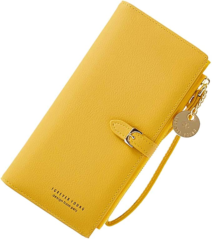 New Ladies Women Fashion Faux Leather Long Wallet Purse Clutch Bag