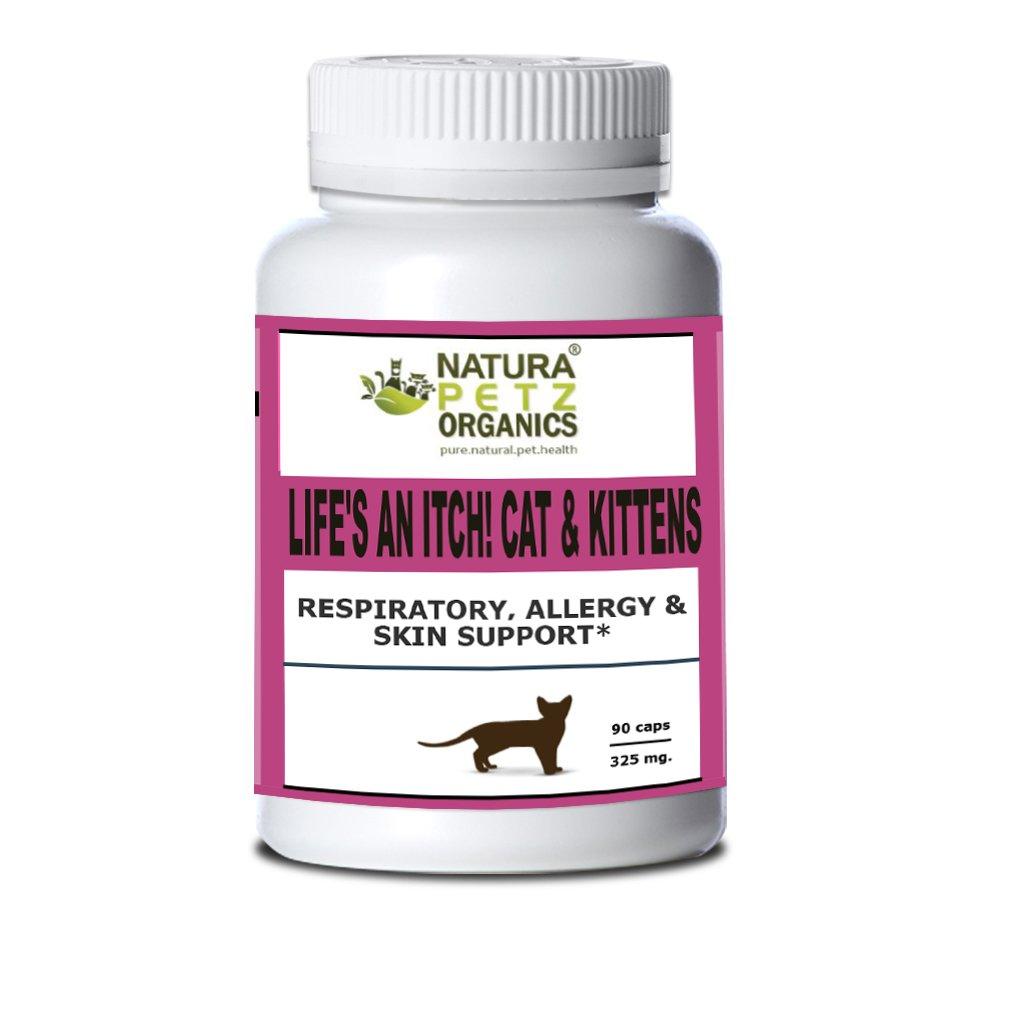 Natura Petz Organics Life's an Itch! Respiratory, Allergy & Skin Support for Cats, Size 3 by Natura Petz Organics