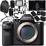 Sony Alpha a7R II Mirrorless Digital Camera with Atomos Ninja Flame 7 4K HDMI Recording Monitor 15PC Accessory Bundle – Includes Deluxe Backpack + MORE