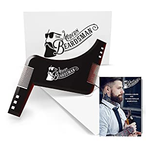 Beard Shaping Tool with FREE 20 page printed Beard Guide.Beard Shaper for achieving perfect beard lines. Shape your Beard easily with The Modern Beardsman Beard Shaping Template. Multiple Beard styles possible using this amazing Beard Stencil