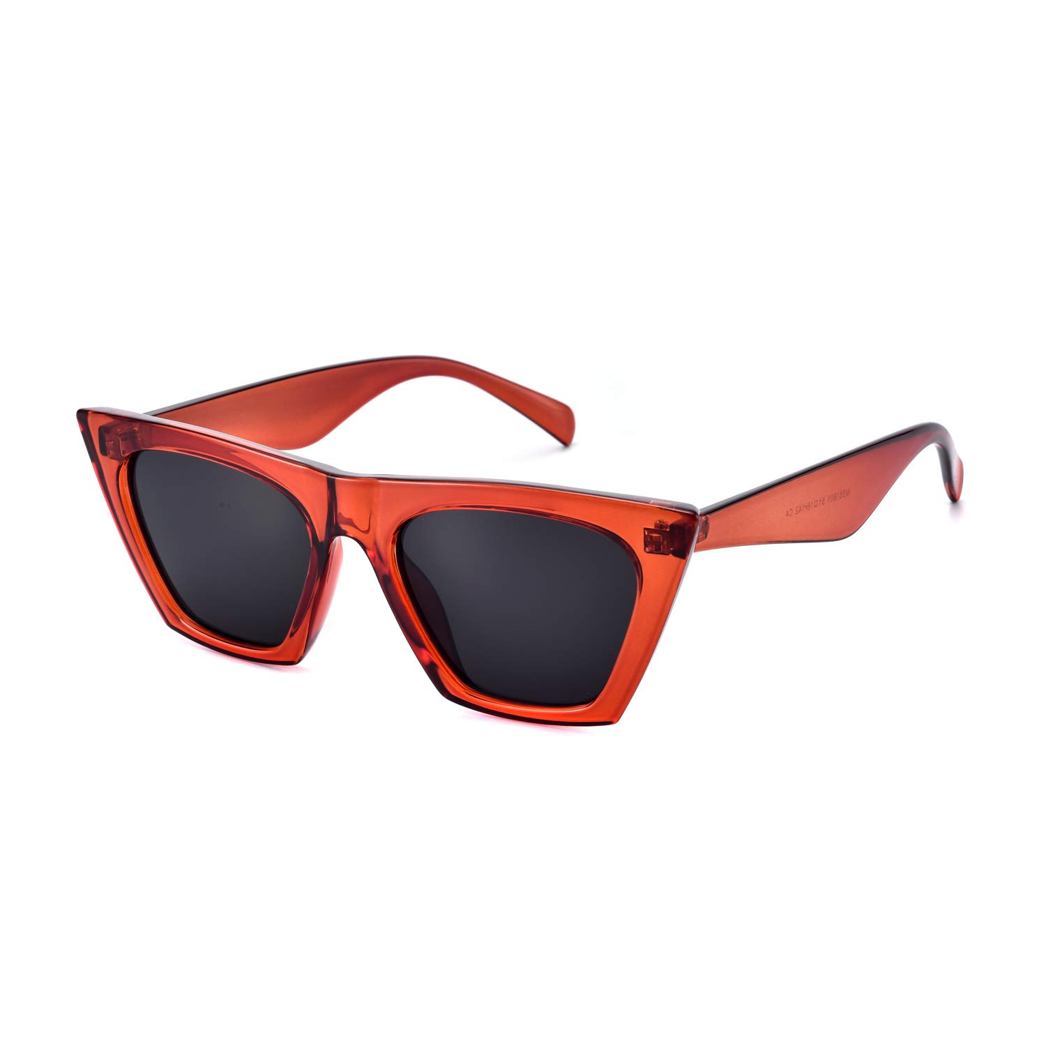 886b7480116 Amazon.com  Mosanana Retro Vintage Square Cateye Sunglasses for Women Small  Chic Red Mod Clout Goggles Sharp Pointed Pointy Designer Inspired Tip Cat  Eye ...