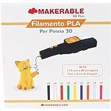 Makerable Filamenti PLA compatibile con penne 3D da 1.75 mm, Multicolor