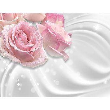 Fototapete Blumen Rosen 396 x 280 cm - Vlies Wand Tapete Wohnzimmer ...