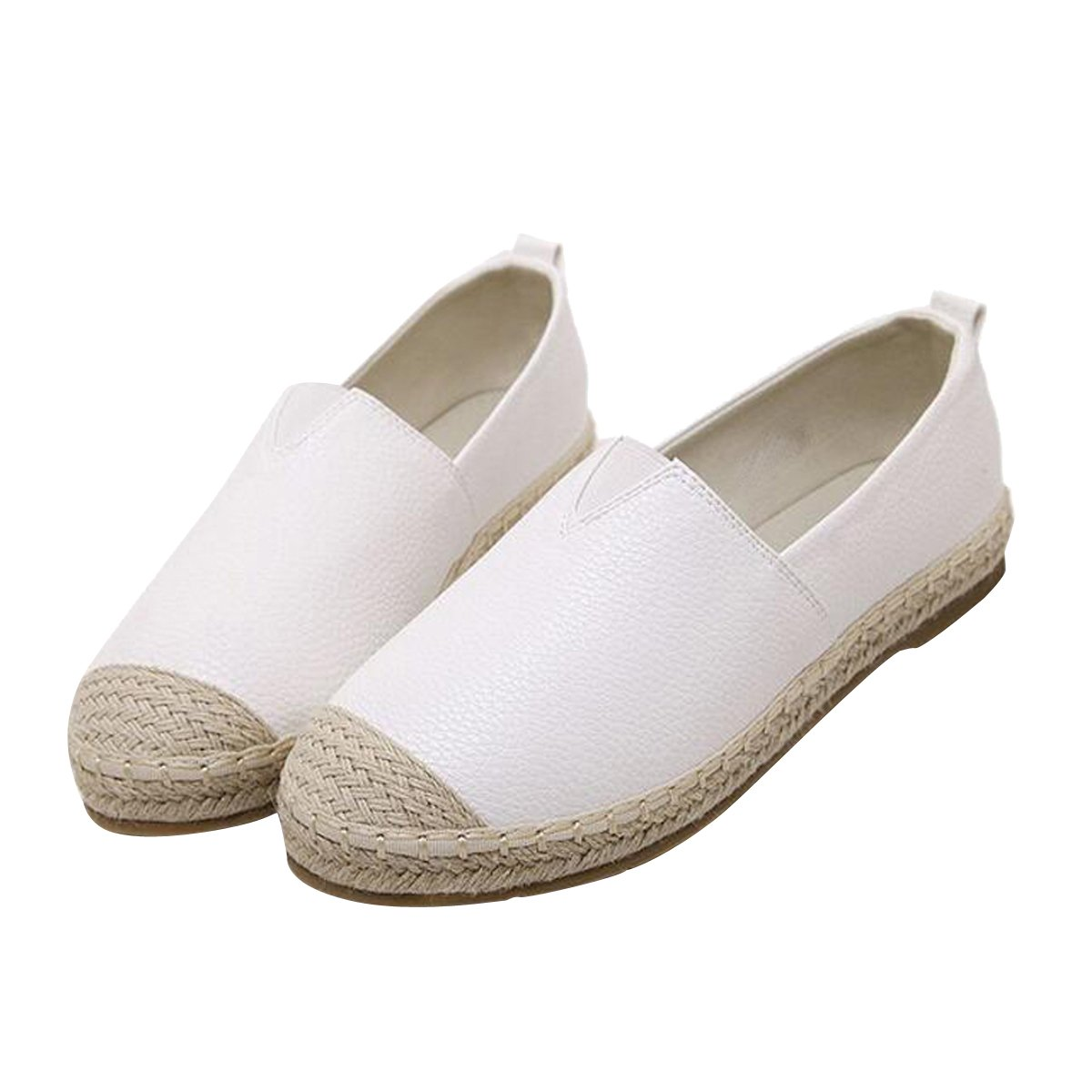 VFDB Slip On Espadrilles Casual Women Loafers Flat Shoes White 43