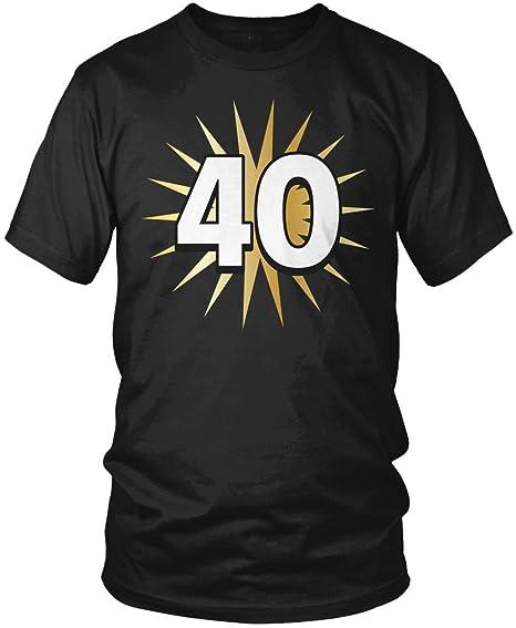 40th cumpleaños camiseta, 40 años de edad, cuadragésimo ...