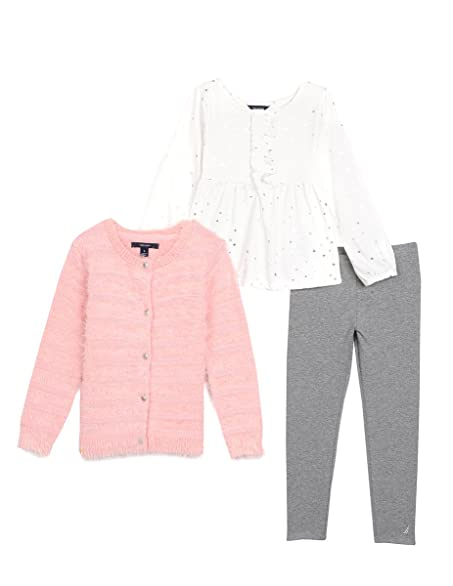 Amazon.com: Nautica Toddler Girls' Fuzzy Sweater Cardigan with ...
