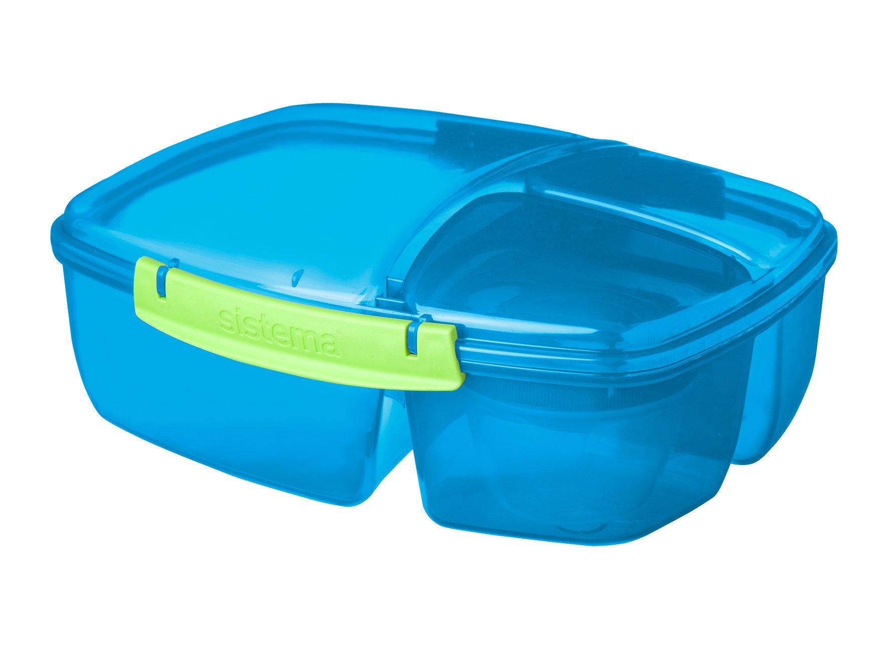 Sistema Lunch Collection Triple Split Lunch Box with Yogurt Pot Food ...