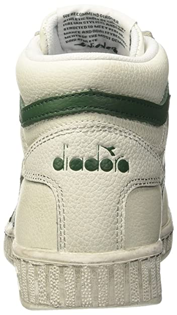 Amazon.com | Diadora Unisex Adults Game L High Waxed Hi-Top Trainers White/Blue | Shoes
