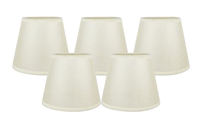 Meriville set of 5 parchment paper chandelier lamp shades 4 inch by meriville set of 5 parchment paper chandelier lamp shades 4 inch by 6 aloadofball Gallery
