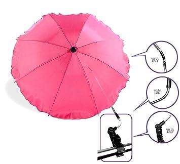 Baby Comfort - Sombrilla universal para sillita de bebé, color rosa