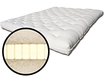 ecopure all natural organic latex and wool futon bed mattress  full double  ecopure all natural organic latex and wool futon bed mattress      rh   amazon co uk